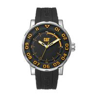 CAT Men's Watch NM Bold II Analog Black Dial Black Silicon Band 46mm  Case