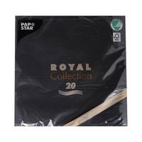 بابستار مناديل ملكية قياس 40×40 سنتيمتر 20 قطعة لون أسود