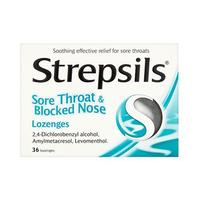 Strepsil Sore Throat & Blocked Nose 36 Pieces