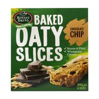 Mother Earth Baked Oaty Slices Chocolate Chip 240g