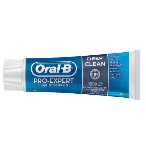 Buy Oral-B Pro-Expert Deep Clean Toothpaste 75ml Online - Shop Oral ... 1c6b1c5c1783