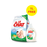 Le Chat Powder Aloe Vera 4KG Eco + Gel 1L Free