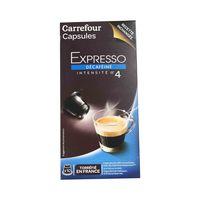 Carrefour Coffee Capsules Decaffeinated 10 Pieces