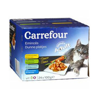 Carrefour Cat Food Eminces Dunne Plakjes With Vegetables Sauce 100GR X24
